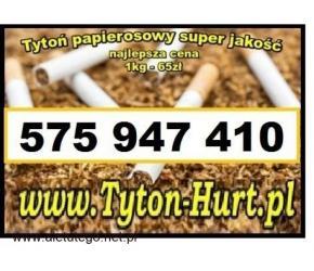 Tani tytoń 1kg dobry tytoń papierosowy 65zl/kg tel. 575-947-410 www.Tyton-Hurt.pl